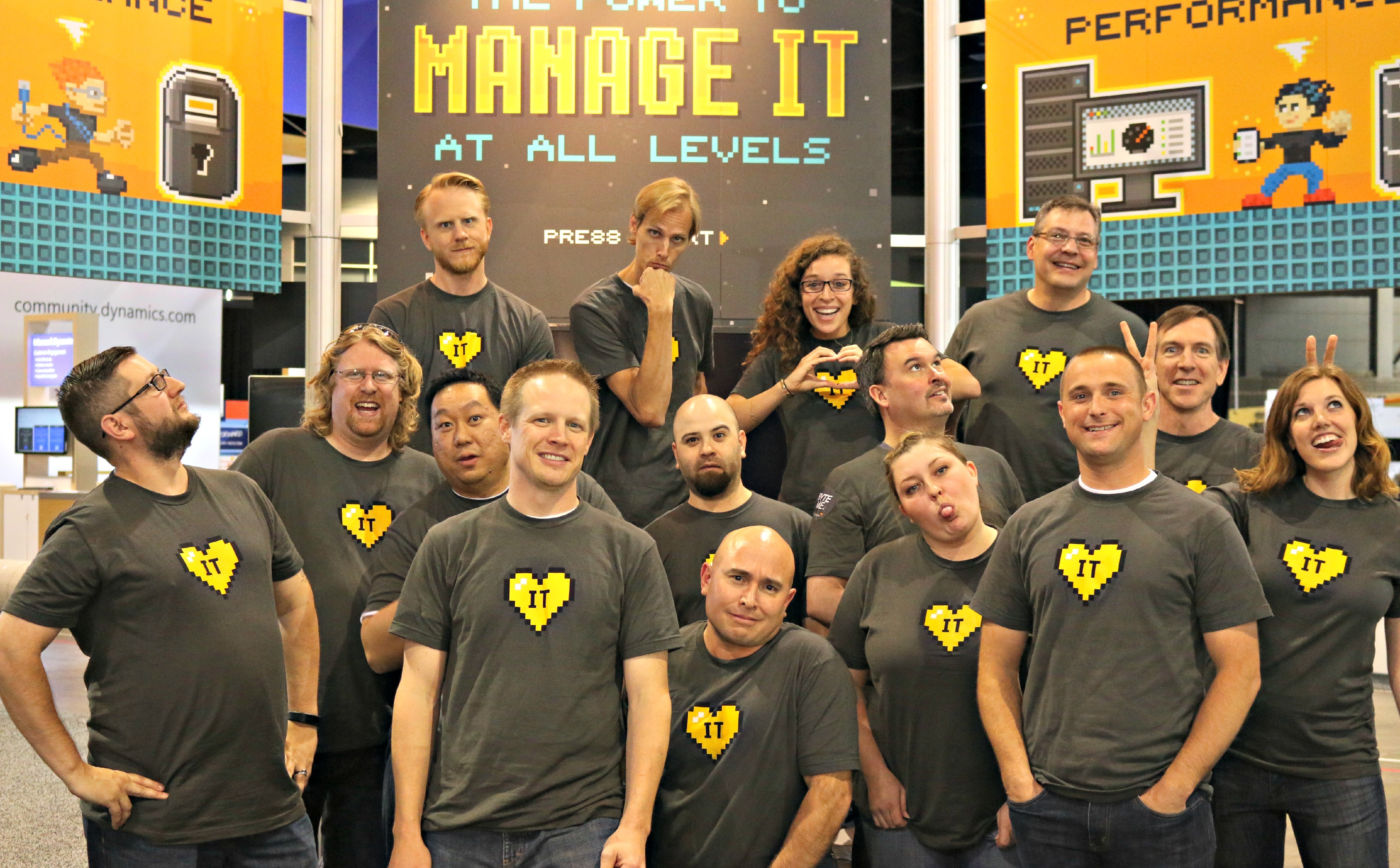 group photo silly