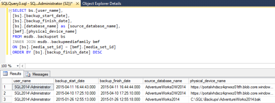 SQL Server Backup Audit