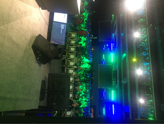 The view from my office during the keynote.