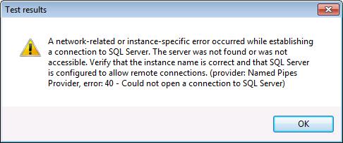SQL Server Connectivity