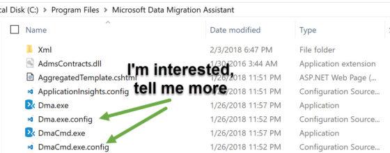 Data Migration Assistant configuration file