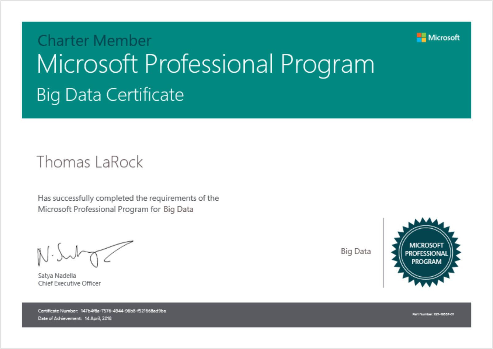 Im Certified In Big Data Thomas Larock