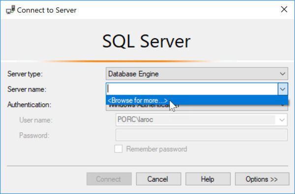 how to hide instance of SQL Server