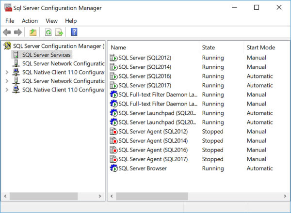 how to hide instance of SQL Server SSCM list