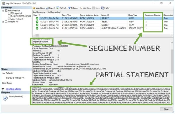SQL Audit Not Showing Full SQL Statement - DZone Database